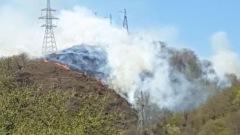 Под Туапсе горит лес