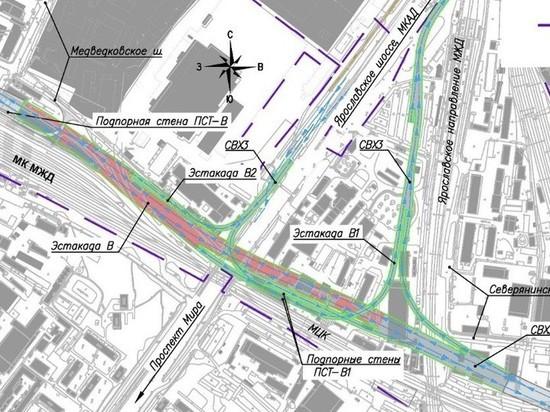 Выяснились подробности возведения эстакад на развязке Ярославского и Щелковского шоссе