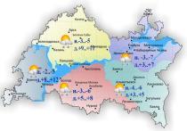 В Татарстане ожидается порывистый ветер и + 12°C