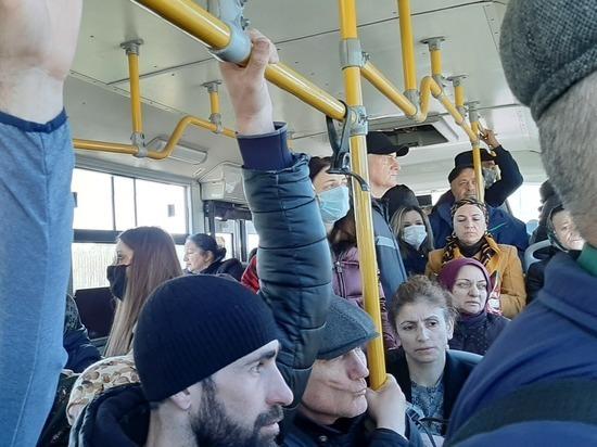 На фоне режима самоизоляции в Дагестане ходят переполненные автобусы