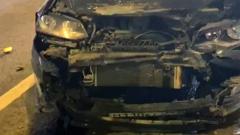 Что осталось от машины Никаса Сафронова после ДТП: видео