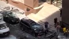 Опубликовано видео с места взрыва в московском бизнес-центре