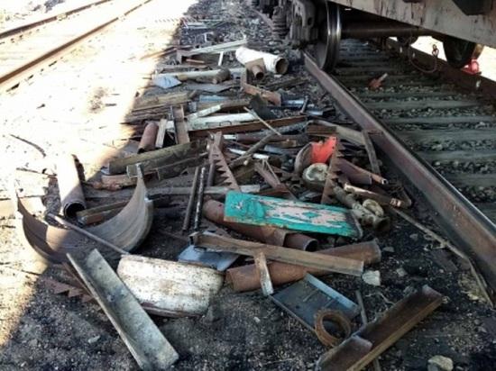 Хулиганы разбросали металл по ж/д путям возле станции в Забайкалье