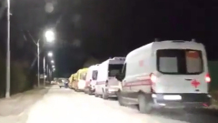 """В Химках сняли гигантскую пробку из """"скорых"""": видео"""