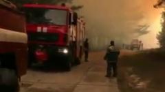 На Украине лесной пожар вплотную подошел к Чернобыльской АЭС