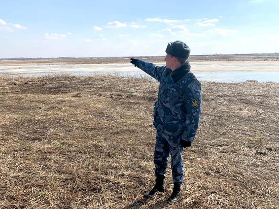 Сотрудники алтайской колонии спасли утопающего в болоте человека