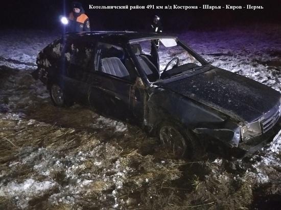 В Котельничском районе водитель бросил пострадавшую в ДТП