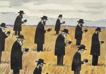 Зоя Черкасская в нью-йоркской галерее
