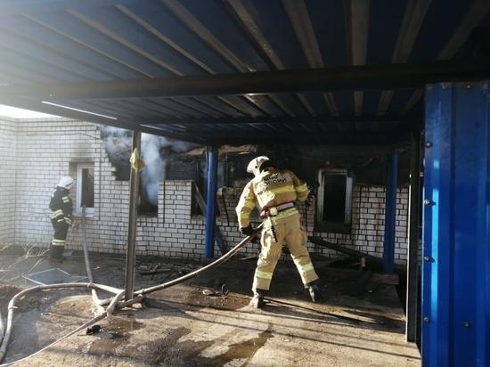 В Серпухове сгорел частный дом