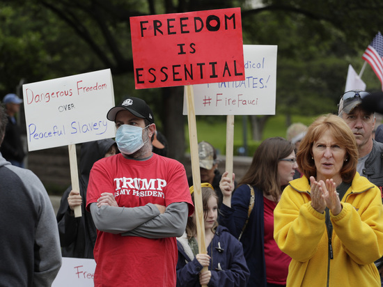 Карантин расколол Америку: люди выходят на митинги против самоизоляции