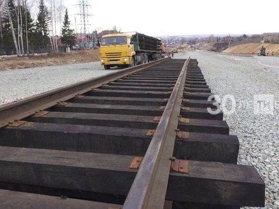На БКК в Казани началась укладка трамвайных путей