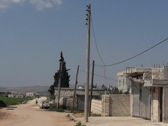Боевики в сирийском поселке украли весь кабель с медью