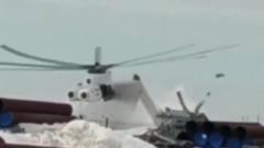 Момент жесткой посадки МИ-26 на Ямале сняли на видео
