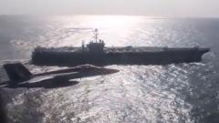 Российский Ил-38 напугал американский авианосец: видео