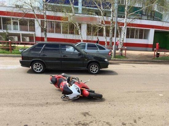 17-летний мотоциклист из Башкирии пострадал в ДТП с легковушкой