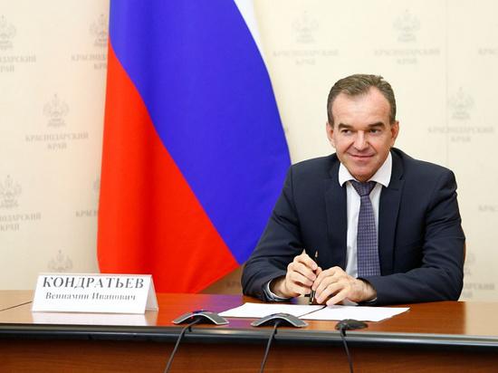 Губернатор Кубани Кондратьев занял 20 строчку в рейтинге глав регионов центра «Рейтинг»