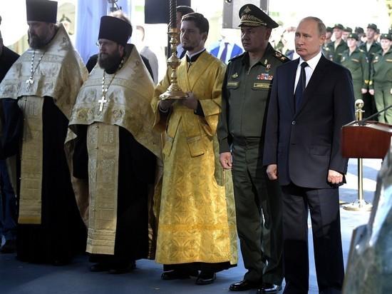 Судьбу мозаики с Путиным прояснил настоятель храма Вооруженных сил