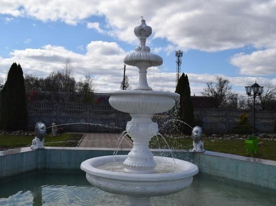 В Оленино Тверской области 1 мая заработал фонтан