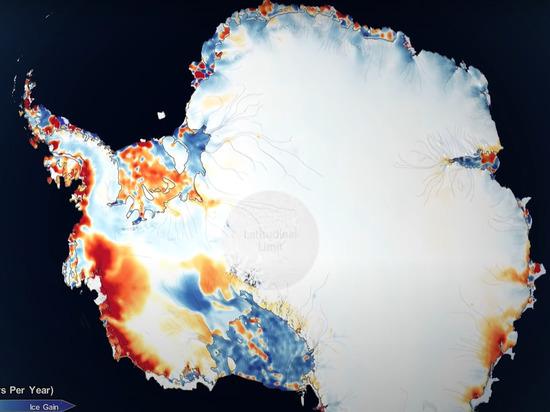 NASA показало масштабы климатической катастрофы в Антарктиде
