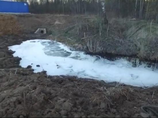 Ярославские экологи сняли реку фильтрата из Скоково попадающую в Волгу