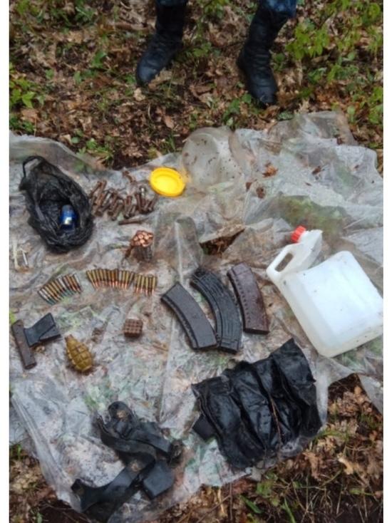 В Дагестане нашли схрон с оружием и боеприпасами