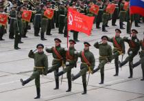 В Москве, в день генеральной репетиции парада Победы, который прошел 8 мая, «Молодежный блок» устроил акцию