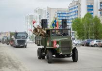 9 мая по Рязани прошли колонны с военной техникой