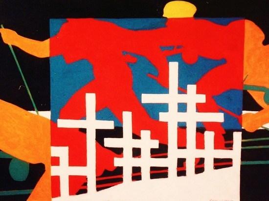 Художник-фронтовик Качаров рисовал пережитую бойню звонкими, ликующими красками