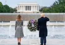 В официальном инстаграме Белого дома США была опубликована видеозапись с президентом Дональдом Трампом и почетным караулом, в которой за кадром рассказывается о годовщине победы над нацизмом в Европе