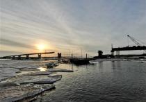 Пролеты моста через Пур готовы на 70 процентов