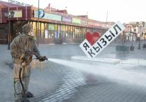 Центральные улицы столицы Тувы обработаны хлоркой