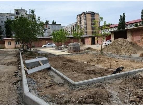 В столице Дагестана благоустраивают дворы