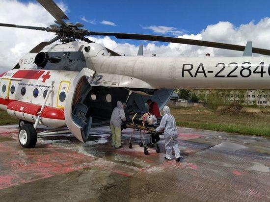 В Тверь на вертолете доставили пациента с патологией сердца