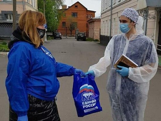Активисты передали серпуховским медикам набор средств индивидуальной защиты