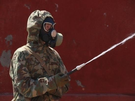 В Волгограде военные химики продезинфицировали сборный пункт