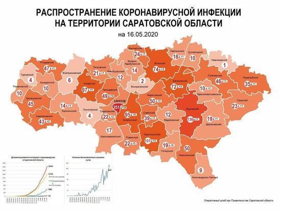 Карта распространения коронавируса в Саратовской области: какие районы условно безопасны
