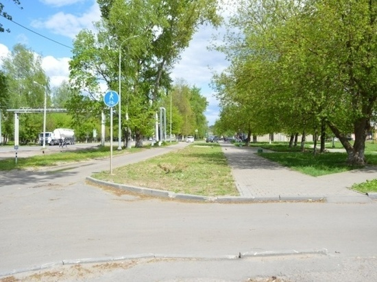 В посёлке Большевик в Серпухове появится новая пешеходная зона