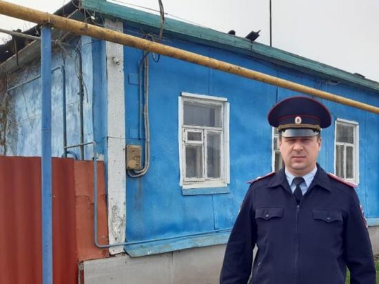 Белгородский майор спас пенсионера из пожара