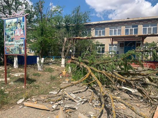 На калмыцкий Нарн-Худук обрушился ураган