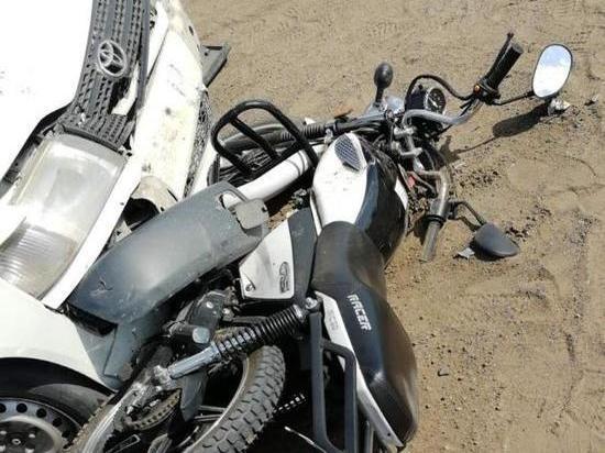 Мотоциклист пострадал в ДТП с Toyota в Забайкалье