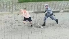 Видео погони росгвардейцев за бегуном в Сочи стало хитом