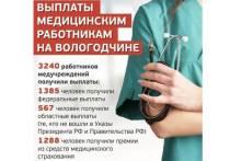 Выплаты медикам, оказывающим помощь коронавирусным больным, по новой системе произведены на Вологодчине