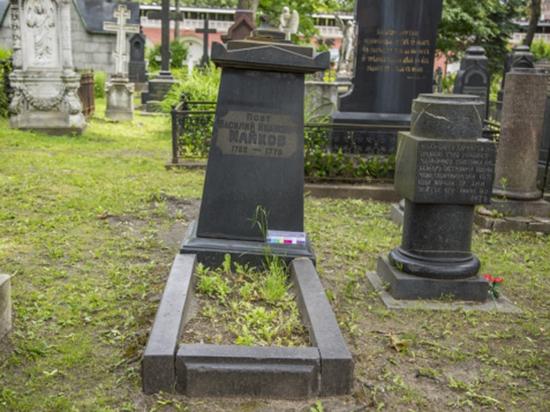 В Москве отреставрируют надгробие баснописца Майкова, пострадавшее от урагана