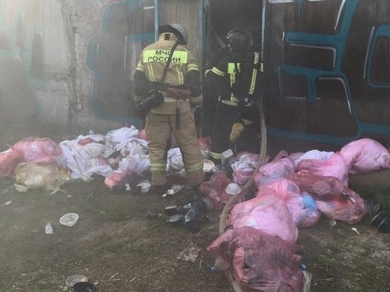 Владимирская прокуратура проводит проверку по факту возгорания склада с медицинскими отходами