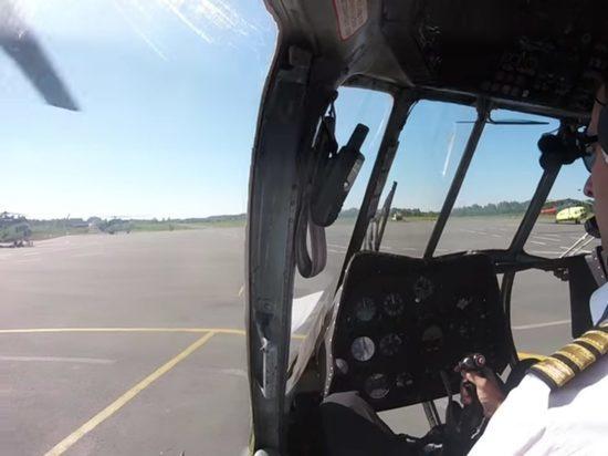 Под Москвой произошло крушение военного вертолета, экипаж погиб