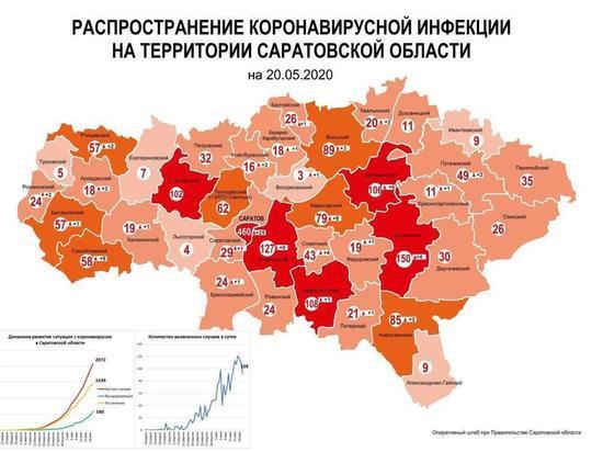 Самые «коронавирусные» районы Саратовской области: карта распространения инфекции