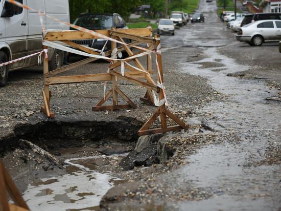 Провал на Казанской подвергнут комплексному ремонту