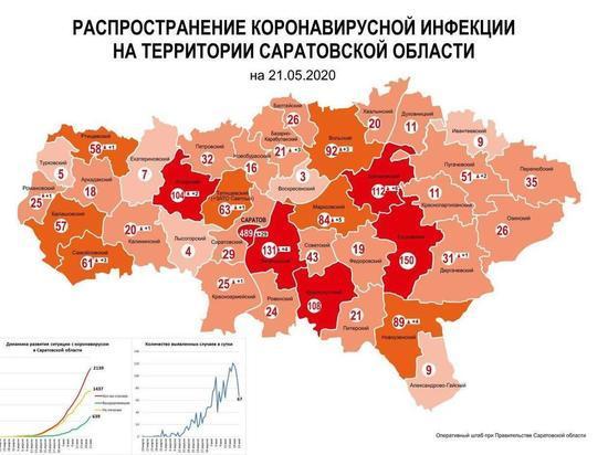 Обновленная карта коронавируса: добавлены новые случаи инфицирования в Саратовской области