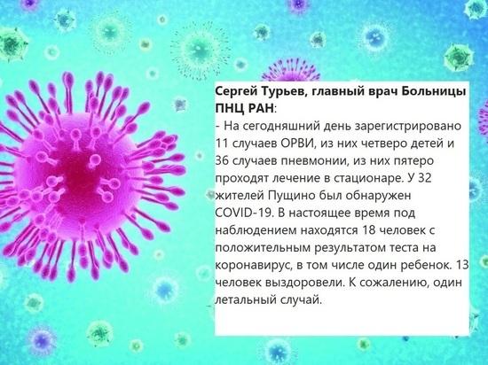 В Пущино ребенок заболел коронавирусной инфекцией