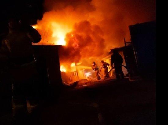 Накануне в Хакасии горела база отдыха